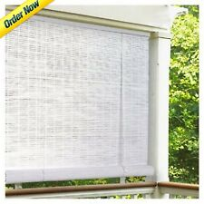 Pvc Roll Up 72 X 60 Inch Vinyl Blind Window Shade White Patio Cover Outdoor  NEW