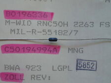 60 x M-Widerstand RNC50H2263FS 226K,Widerstände
