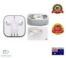 Original Apple iPhone 5 6 6s 7 + Plus Lightning Cables EarPod HeadSet 3.5mm Jack