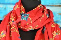 Janie Besner Women's Scarf Flower Embroidery Casual Career Delicate Cashmere