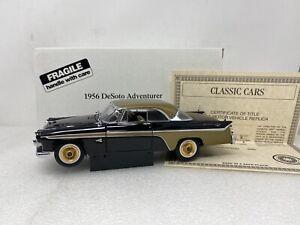 1/24 Danbury Mint 1956 DeSoto Adventurer Black / Gold