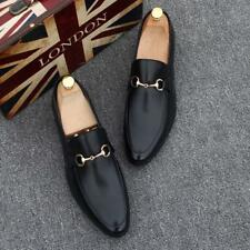 Men's Fashion Leather Slip On Round Toe Business Dress Loafers Shoes Plus Size@@