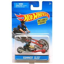 Hot Wheels 1:64 Scale Die-cast HAMMER SLED Motorcycle with Rider (X2076)