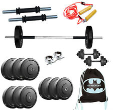 BEST Gb 22 KG HOME GYM SET WITH 3 Ft Rod, GYMBAG, ROPE, Dumbbells
