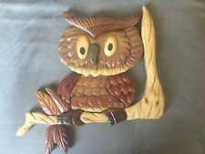 Wooden Owl Wall Hanging / Plaque