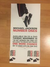 "Rare MICHEAL JACKSON Number Ones Promo 2-sided 12"" x 24"" Poster KING OF POP MJ"