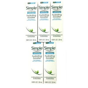 Simple Sensitive Dry Skin Water Boost Hydrating Booster Moisturizer Lot of 5
