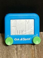 Etch-A-Sketch Pocket Size Blue With Green Knobs Classic Toy by Ohio Art Company