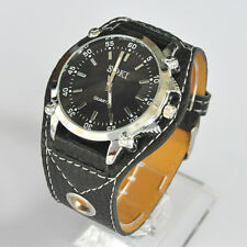 SOKI Black Color Analog Quartz Sport Type Mens Wrist Band Watch