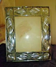 Ancien grand cadre photo verre miroir taille et biseauté à poser
