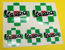 VESPA SCOOTER ITALIAN FLAG CHECK ROUNDELS x 5 stickers decal Flag