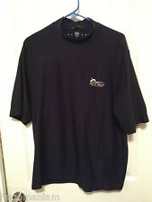 Nike Mens Large Golf Shirt Navy Blue Large Dry Tennis Dri Fit Short Sleeve Solid