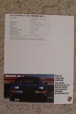 1989 Porsche 928 S4 Coupe Folder / Brochure / Prospekt RARE!! Awesome L@@K