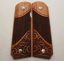 1911 Full Size & Commander Colt S&W Kimber Sig Springfield Grips Solid Rosewood