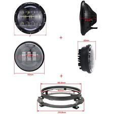 "7"" LED Headlight Passing Lights Set For Harley Electra Glide Ultra Limited FLHTK"