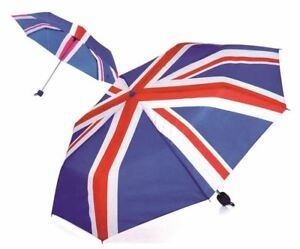 Mini Portable Folding UNION JACK BRITISH FLAG Umbnrella Super Compact