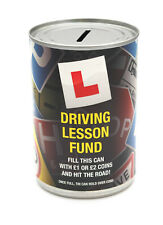 Driving Lesson Fund Savings Tin - STANDARD - Savings Jar Money Tin - HOLDS £260