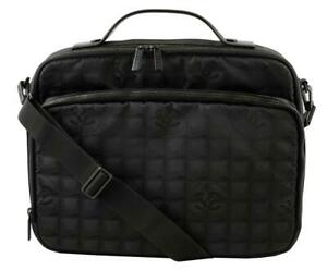 Chanel Very Rare New Line Briefcase Black Textile/Leather Messenger Bag