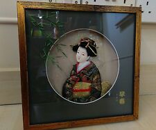 Oriental Chinese Japanese Geisha Lady 3D Framed Picture