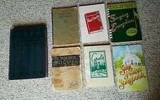 Lot of 7 vintage song books 1894 thru 1983