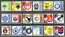 18 Greek Historical Football & Sports Clubs, AEK PAO OSFP PAOK ARIS HRAKLIS.