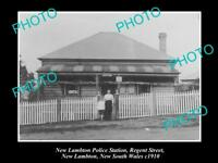 OLD LARGE HISTORIC PHOTO OF THE NEW LAMBTON POLICE STATION NSW c1910