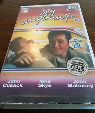 Say Anything Ex Rental Big Box VHS John Cusack Ione Sky 80s Classic, Used
