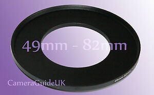 49mm to 82mm Male-Female Stepping Step Up Filter Ring Adapter 49mm-82mm