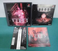 PlayStation -- Virus The Battle field -- PS1. JAPAN GAME. Spine Card. work fully