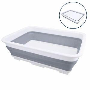 Collapsible Washing up Basin Pop up Bowl for Camping Caravan 7 Litre Capacity