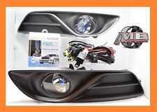 fits 2013 2014 2015 Nissan Sentra Clear Fog Light Lamp wiring+switch PERDE 6000K