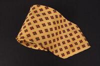 Vitaliano Pancaldi Necktie Tie Yellow Geometric 100% Silk Made in Italy