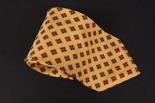 Vitaliano Pancaldi Necktie Tie Yellow Geometric 100% Silk Made in Italy
