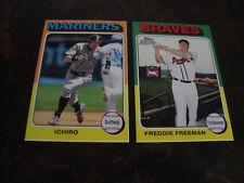 2011 Topps Lineage Baseball---1975 Mini's---Ichiro/Freeman RC---Lot Of 2