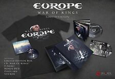 Europe War of Kings Box set cd/tshirt/dvd/postcard sticker  deluxe