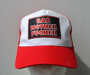 Bad Mother Fucker Trucker Cap Mütze  Redneck BMF Rot