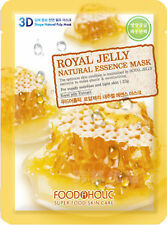 5 X FoodAHolic  Royal Jelly Natural  Essence face Mask for Nutrition, Refining,