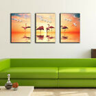 3 70×100×3cm Sunset Birds Canvas Prints Framed Wall Art Home Decor Painting Gift