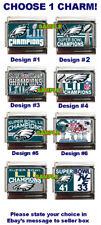 Philadelphia Eagles NFL Super Bowl LII Champions Custom Italian Charm, Patriots