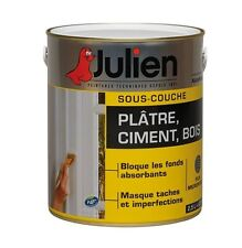 PEINTURE SOUS COUCHE PLATRE BOIS CIMENT BETON JULIEN 2.5L BLOQUE FOND ABSORBANT