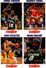 1992 5 Majeur Cards Uncut # NNO Johnson-Cheeks-Stockton-Malone
