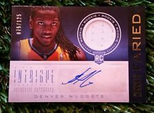 KENNETH FARIED  2012-13 PANINI INTRIGUE ROOKIE RC JERSEY AUTO AUTOGRAPH #/125
