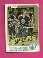 1981-82 OPC # 108 OILERS GLENN ANDERSON  ROOKIE GOOD CARD (INV# D0168)