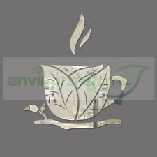 Art Leaf Coffee Branch Cup Acrylic Plastic Mirror Wall Home Decor Vinyl Stickers