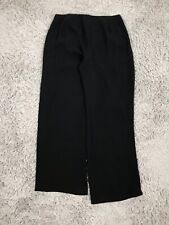 NEW EILEEN FISHER Black Straight Leg Ponte Pants Size PS Silk Stretch