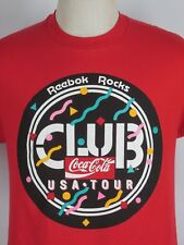 New listing Vintage Coca Cola Club , Reebok Tour Tee ,50/50 ,Crew,rock ,S/S t shirt M/L