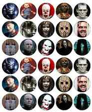 Halloween Horror Films Cupcake Toppers Edible Wafer Paper BUY 2 GET 3RD FREE