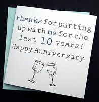 Funny Wedding Anniversary Card Husband Wife - 1st 2nd 3rd 5th 6th 7th 10th 25th