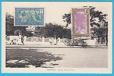 D.  Madagaskar  Majunga  Jardin de la Liberte    Postkarte  1936