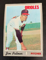 1970 Jim Palmer # 449 Baltimore Orioles Topps Baseball Card HOF